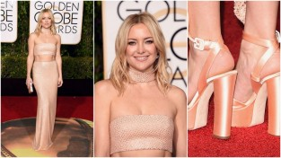 Kate Hudson de Michael Kors, sapatos Giuseppe Zanotti e brincos Forevermark