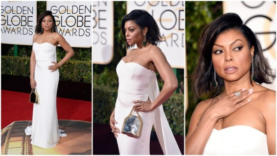 Taraji P. Henson de Stella McCartney e joias Kimberly McDonald