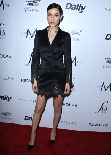 "WEST HOLLYWOOD, CA - MARCH 20: Bella Hadid arrives at the The Daily Front Row ""Fashion Los Angeles Awards"" 2016 at Sunset Tower Hotel on March 20, 2016 in West Hollywood, California. (Photo by Steve Granitz/WireImage)"