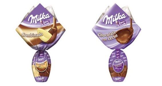 Ovo Milka Ovo Milka Chocolate Ao Leite (100g - R$ 24,90) e Combinado (176g - R$ 29,90) - Pela primeira vez a marca traz ovos de Páscoa ao Brasil, na versão ao leite e também na combinação desse chocolate com o branco.