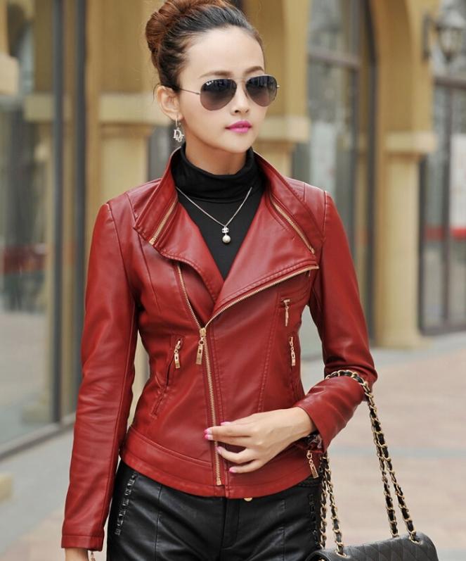 women-Vintage-Notched-Lapel-Punk-Rivets-Studded-Leather-Jacket-Biker-short-Jacket-women-coat-female-outerwear