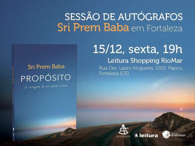 Lançamento Livro Propósito_Prem Baba em Fortaleza