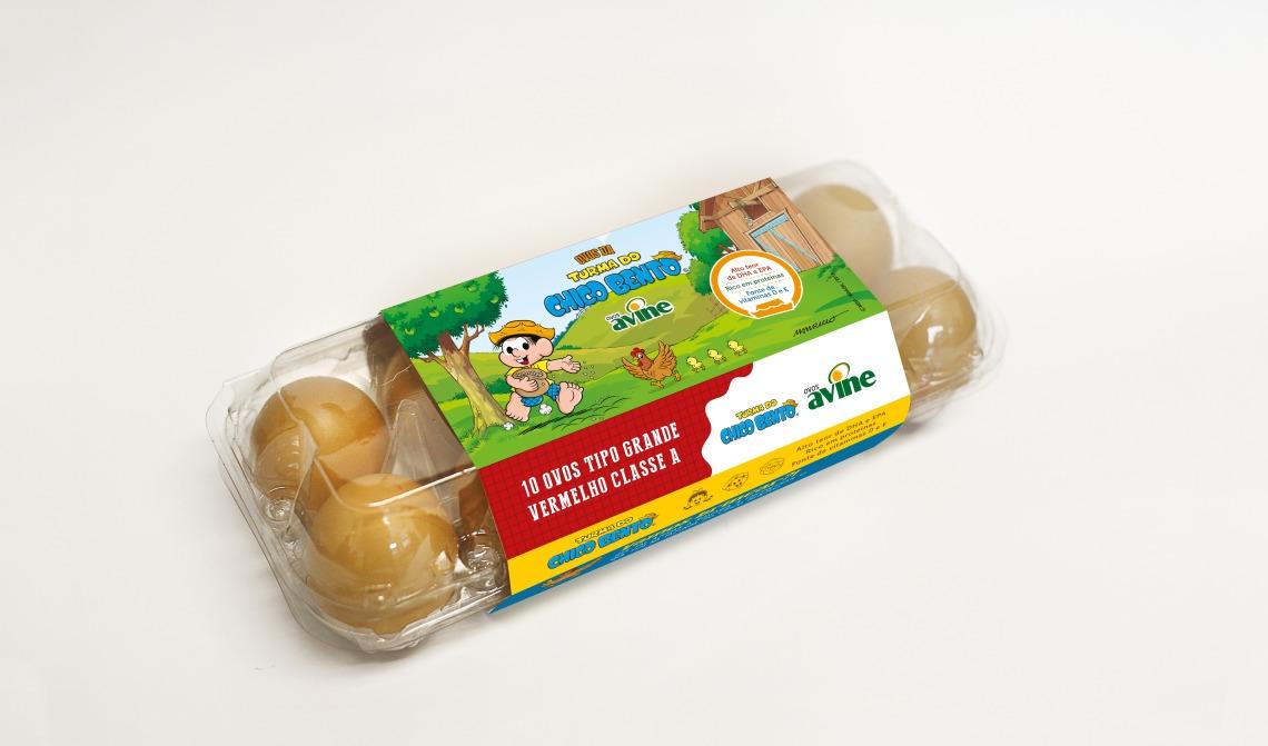 Avine - Ovos Turma do Chico Bento - Mockup Embalagem