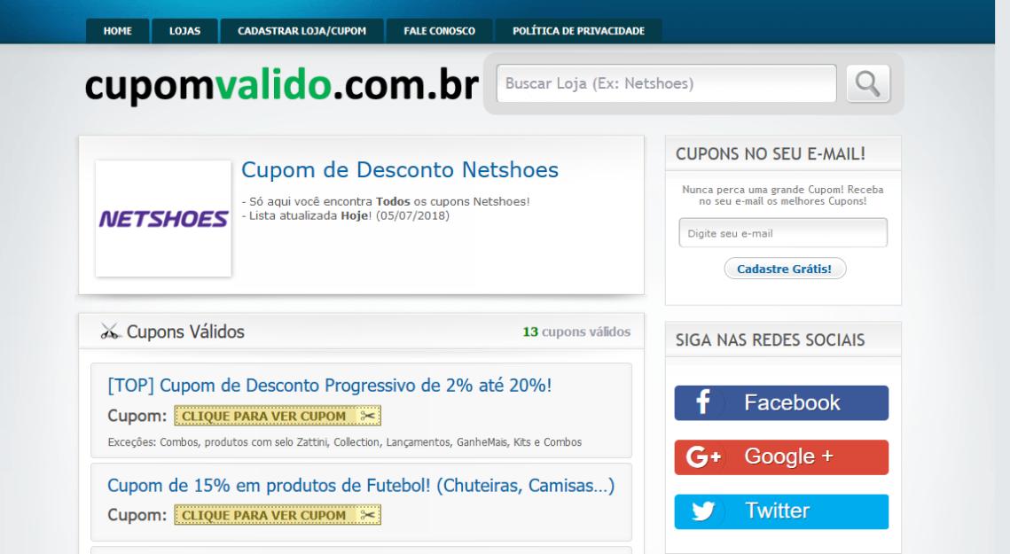 Screenshot-2018-7-5 Cupom de Desconto NETSHOES → Ganhe 12% até R$100 (SÓ HOJE)