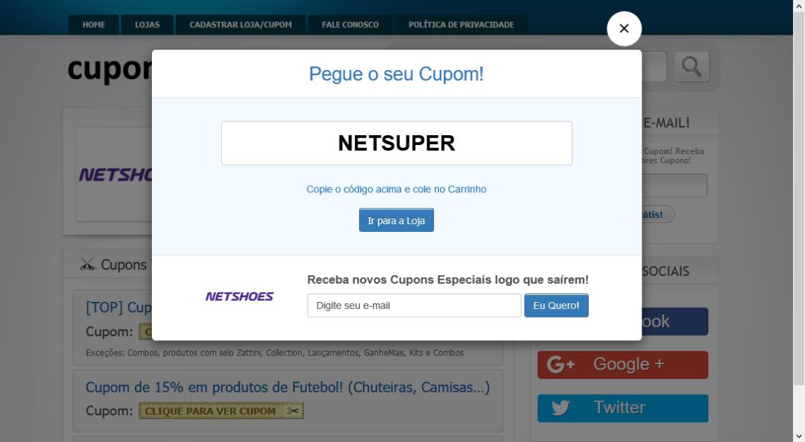 Screenshot-2018-7-5 Cupom de Desconto NETSHOES → Ganhe 12% até R$100 (SÓ HOJE)(1)