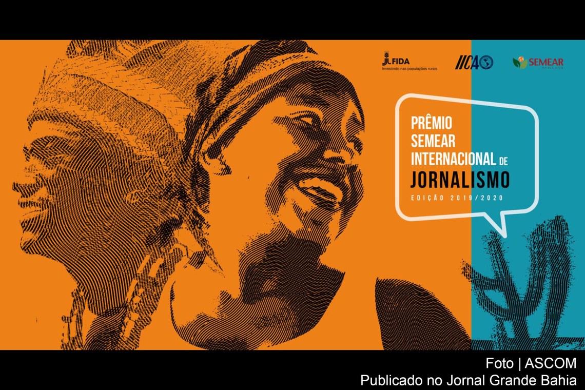 Cartaz da edição 2020 do Prêmio Semear Internacional de Jorna